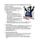 2019 US History STAAR EOC Unit 2 Progressive Era Quick Notes