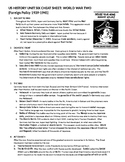 2019 US History STAAR EOC Unit 6 World War Two Quick Notes