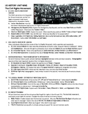 2019 US History STAAR EOC Unit 9 Objectives and Top Tested Topics: Civil Rights