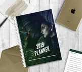 2019 Weekly Planner - Week to a Day - 6 Period Minimalist