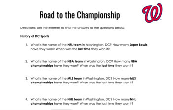 2019 World Series Wednesday - Road to the Championship (Washington Nationals)