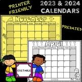 2019 and 2020 EDITABLE Calendars {FREE Lifetime Updates}