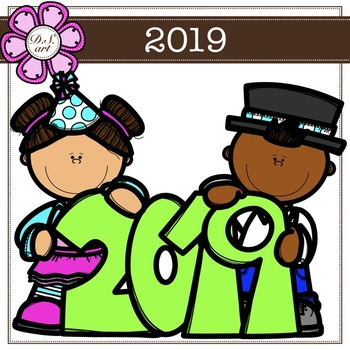 2019 digital clipart (color and black&white)
