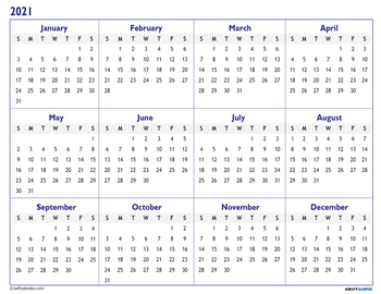 2020 2021 Academic Calendar Printable Year At A Glance W Bonus Monthly Planner