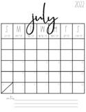 2021-2022 Blank Calendars {FREEBIE!}