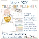 2020-2021 Boho Chic Teacher Planner | Neutral Colors | Tea