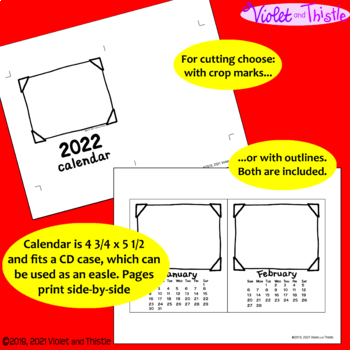 2020 Calendar SMALL {Calendar Printable} Parent Christmas Gift for Parent C2
