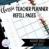 2020-2021 Classic Teacher Planner/Binder Dated Refill Pages
