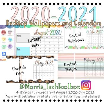 2020 2021 Desktop Wallpapers W Calendar By Miss Morris S Tech Toolbox