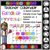 2021-2022 EDITABLE / Printable CALENDAR / Cover Page + More (FREE Updates)