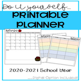 Do it Yourself! 2020-2021 (Editable)  Planner