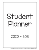 2020 - 2021 Middle / Junior High / Intermediate Student Planner Pages