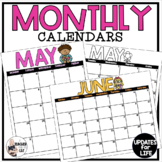 Editable Monthly Calendar Templates - Updated Yearly