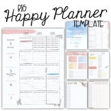 2020-21 BIG Happy Planner Teacher Template {+BONUS PAGES!!}