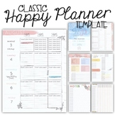 2020-21 CLASSIC Happy Planner Teacher Template {+BONUS PAGES!!}