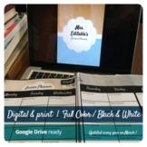 2020-21 Editable Print & Digital Teacher Lesson Planner w/