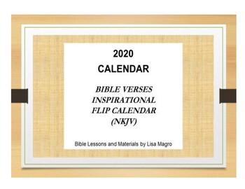 2020 Bible Verse Flip Calendar