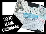 2020 Blank Calendars