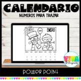 Calendario Trazar Números | Editable Tracing Number Calendar Spanish Powerpoint