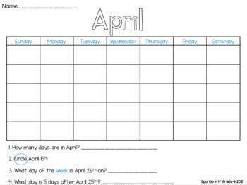 2020 Calendar: Differentiated