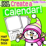 2021 Calendar HALF-PAGE {Calendar Printable} Parent Christmas Gift for Parent D3