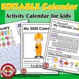 2020 Calendar Printable EDITABLE