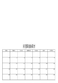 2020 Calendar Template (A3)