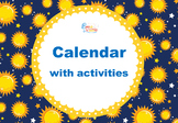 Calendar with Activities for the whole year
