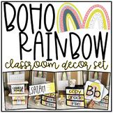 2020 Classroom Decor   Boho Rainbow Theme