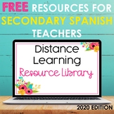2020 FREE Distance Learning Resource Library for Secondary