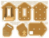 2020 Gingerbread House Photo Frame Pin Ornament DIY patter
