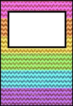 2020 Glitter Rainbow Teacher Planner (with editable name section)