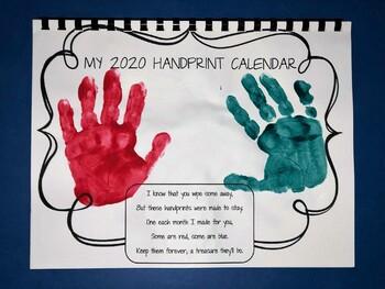 2020 Handprint Calenders (Printable PDF)