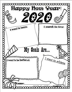 FREE! 2020 Happy New Year Goals!