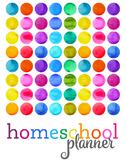 2020 Rainbow Homeschool Planner {1 kid, 4 days}