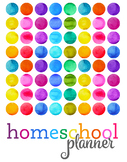2020 Rainbow Homeschool Planner {4 kids, 4 days}
