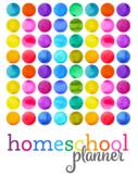 2020 Rainbow Homeschool Planner {6 kids, 4 days}
