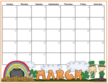 2020 Monthly Calendars: Full Color