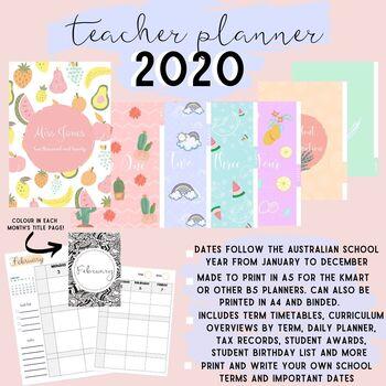 2020 TEACHER PLANNER / DIARY! PERFECT FOR THE AUSTRALIAN SCHOOL YEAR