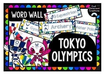 2020 Tokyo Olympics Word Wall
