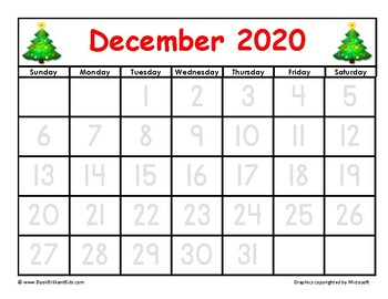 December 2020 Tracing Calendar The BEST 2020 Calendar for Patterns and Tracing for Kids by Book