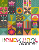 2020 Tropical Homeschool Planner {2 kids, 4 days}