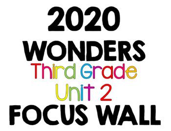 2020 Wonders Focus Wall 3rd Grade Unit 2