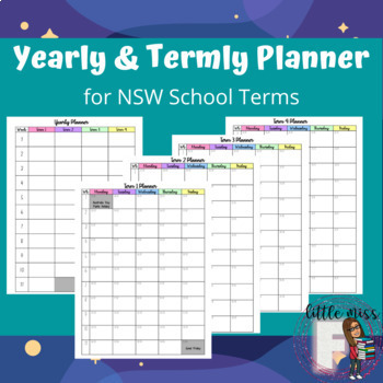 2020 Yearly and Term Planner NSW