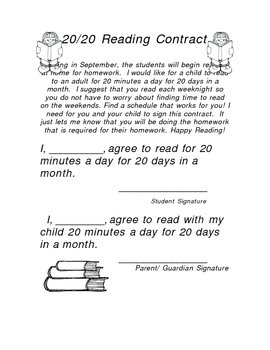 20/20 reading contract