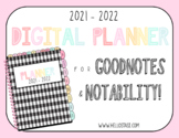 2021-2022 Digital Planner (GoodNotes and Notability)