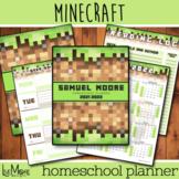 2021-2022 Editable Minecraft Homeschool Planner