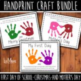 2021/2022 Handprint Craft Bundle - First Day of School, Ch