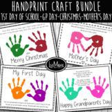 2021-2022 Handprint and Poem Art Craft Bundle - Includes 4