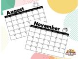 2021 - 2022 School Year Calendar FREEBIE